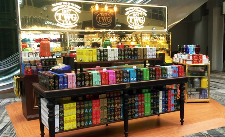 『TWG Tea at Changi T3 Kiosk』チャンギ空港T3・キオスク店
