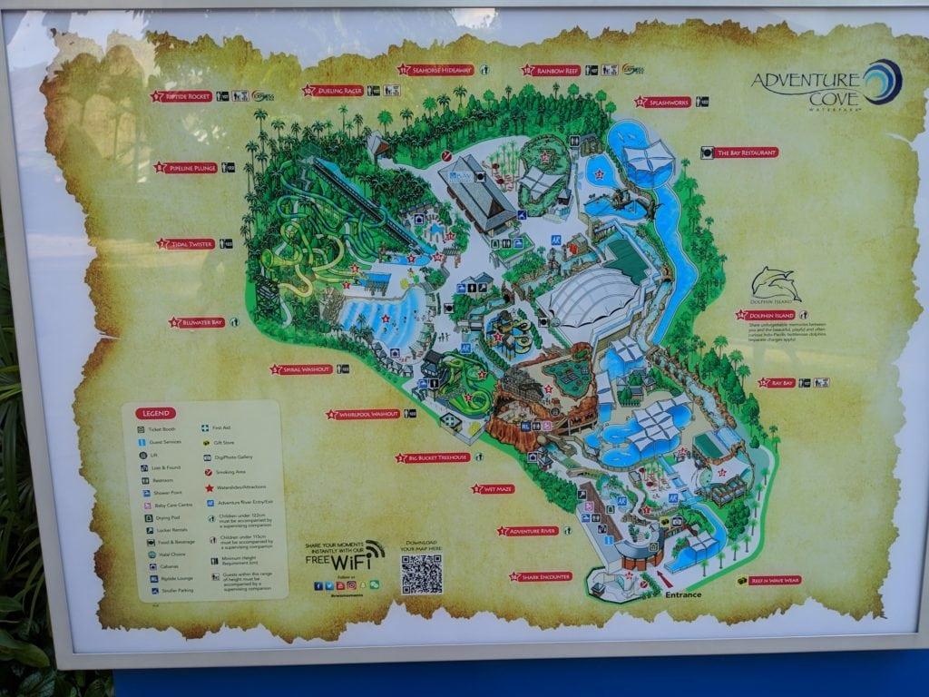 アドベンチャーコーブウォーターパーク館内図